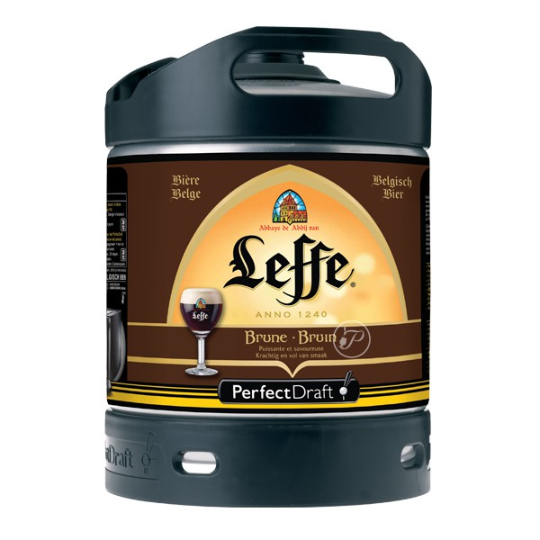 Barril de Cerveza Leffe Brune 6 litros