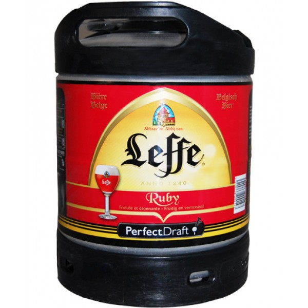 Barril de cerveza Leffe Ruby 6 litros