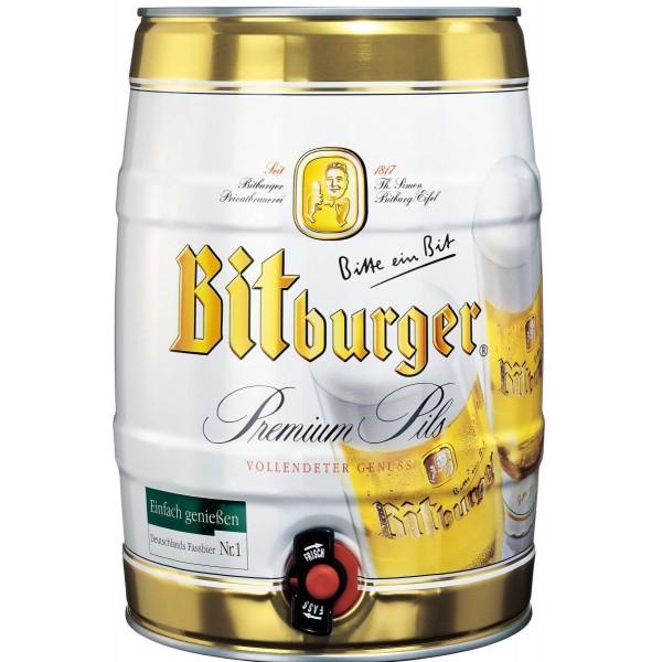 Barril de cerveza Bitburger Pils 5 litros