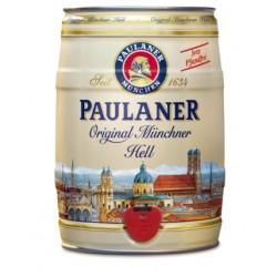 Barril de cerveza Paulaner Hefe Hell 5 litros