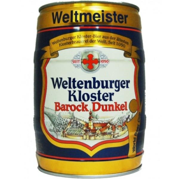 Barril de cerveza Weltenburger Barock Dunkel 5 litros