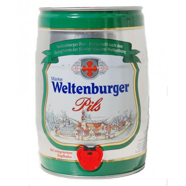 Barril de cerveza Weltenburger Pils 5 litros