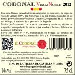Vino Codonal Vinum Nobile 2012